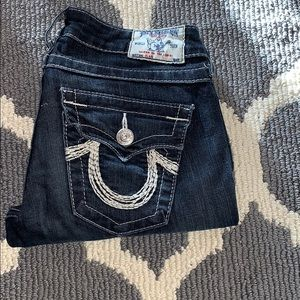 True Religion jeans. Low rise crop